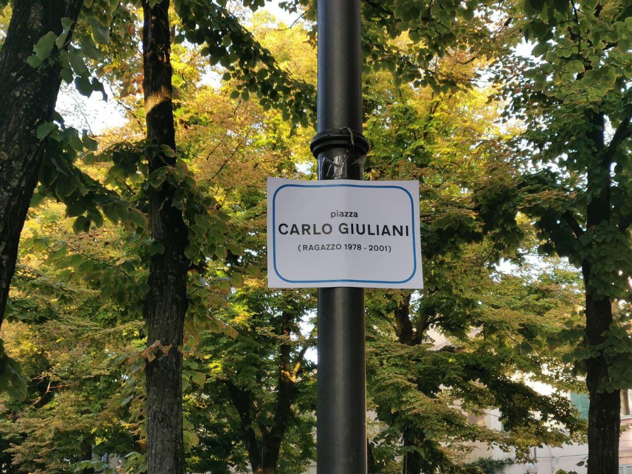 Piazza Carlo Giuliani (Ragazzo 1978-2001) Reggio Emilia