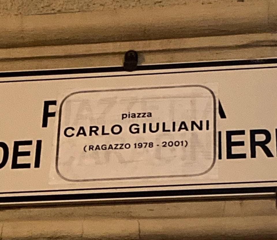 Piazza Carlo Giuliani (Ragazzo 1978-2021) Bologna