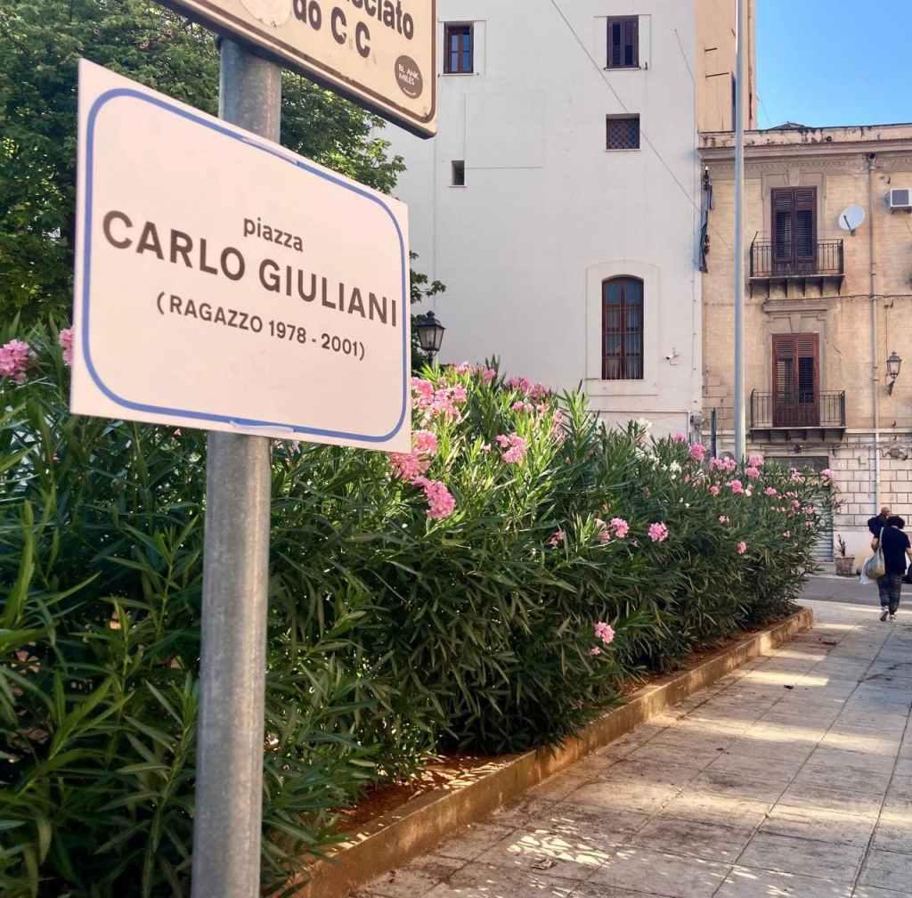 Piazza Carlo Giuliani (ragazzo 1978-2001) Palermo